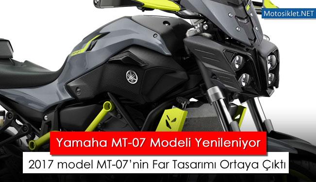 Yamaha MT-07 modeli 2017 de yenileniyor Yamaha Superbike 2017