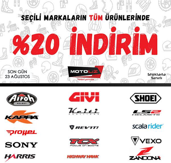 MOTOLİZ'DEN KAÇIRILMAYACAK %20 KAMPANYASI!!!