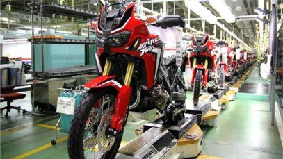 Honda Africa Twin fabrika üretim aşamaları
