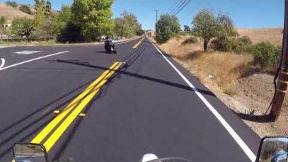 Kafa kafaya motosiklet otomobil kazası