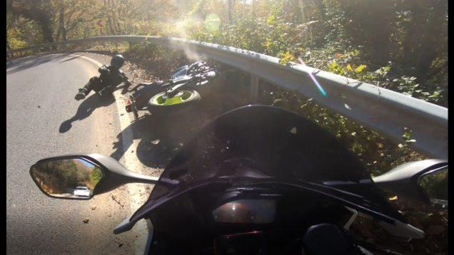 Darlık yolundaki motosiklet kazası